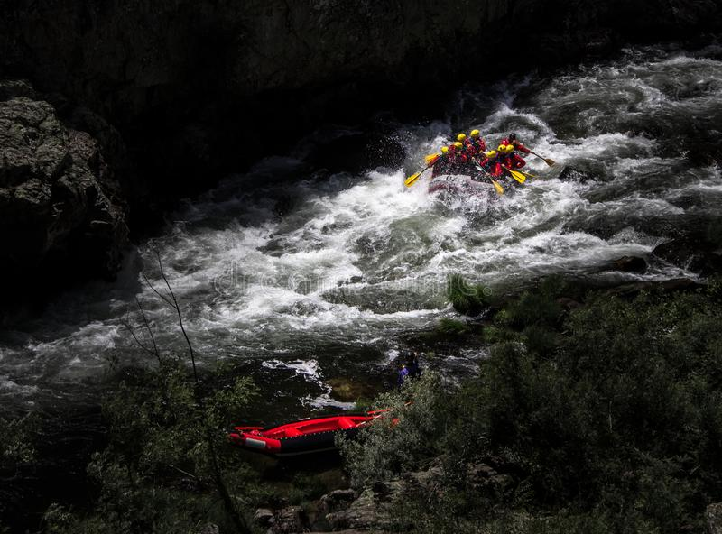 Rafting at the River royalty free stock images