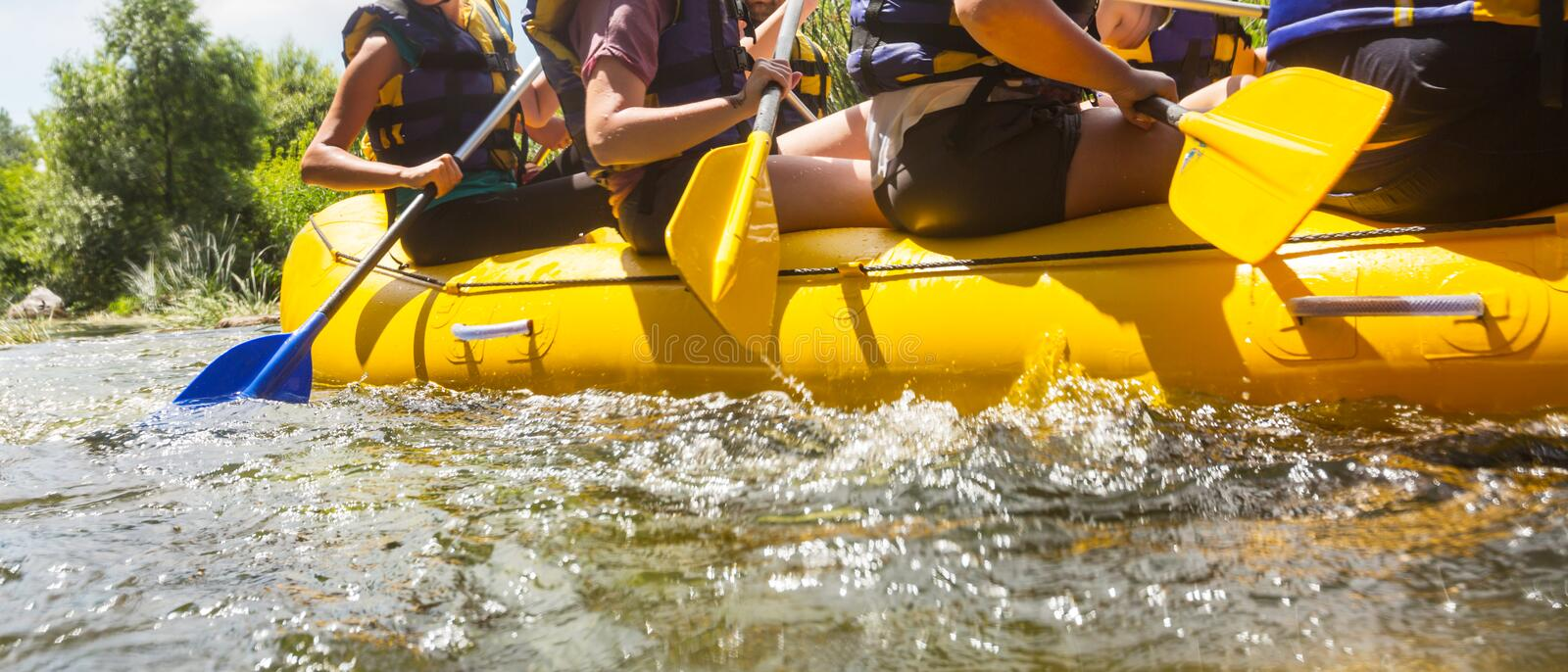 Rafting royalty free stock image