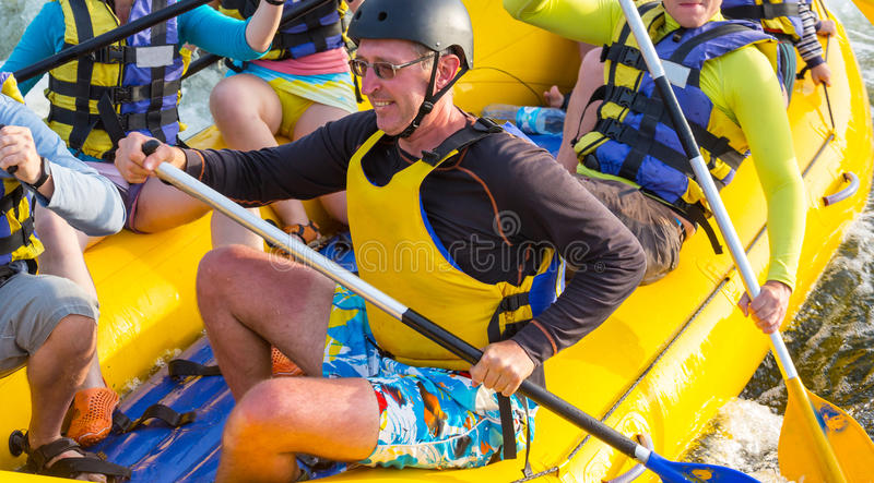 Rafting. Team , summer extreme water sport stock images