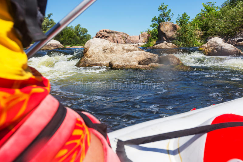 Rafting. Team , summer extreme water sport royalty free stock photography