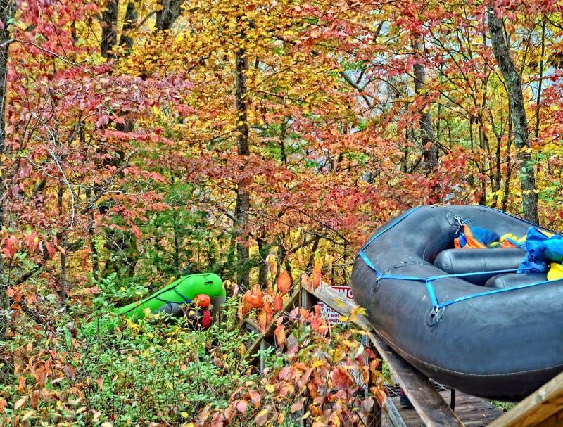 Rafts i Tallulah Gorge royaltyfria foton