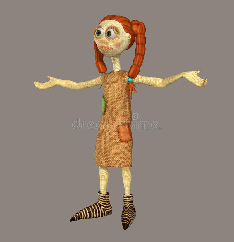 Rag Doll. For your artistic creations and/or projects stock illustration