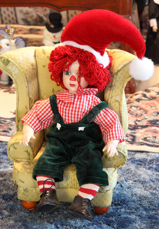 Download Rag Doll with Santa Hat stock image. Image of festive - 16103747