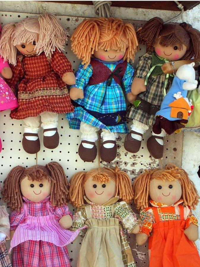 Rag dolls stock images