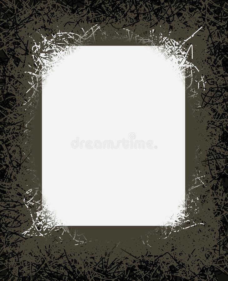 Rag-Mould Mural Poster. Graphic design of black, white, green, rag-mould mural poster paper frame stock illustration