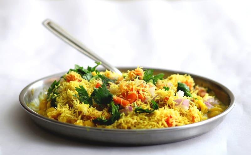 Ragada Patice, nourriture délicieuse, nourriture indienne de rue photo libre de droits