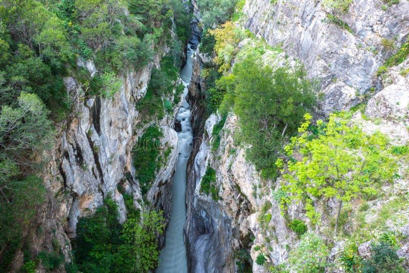 Raganello se gorge du pont de diable, Calabre (Italie) photo libre de droits