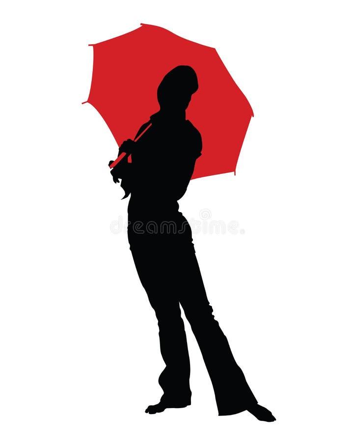 Ragazza #3 della pioggia fotografia stock libera da diritti