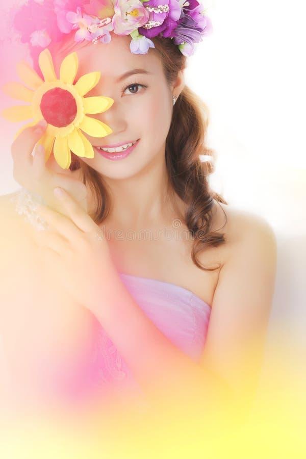 Ragazza adorabile asiatica fotografie stock