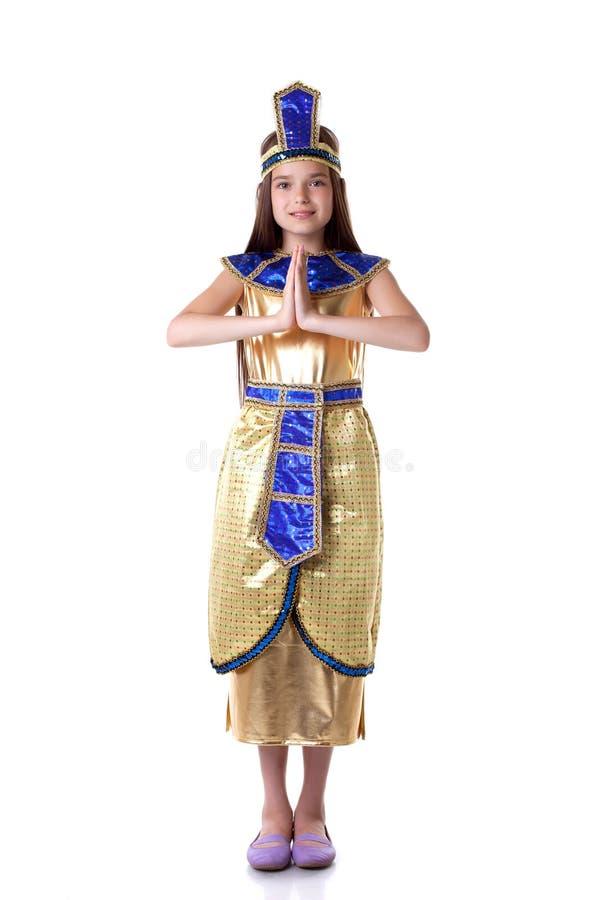 Ragazza adorabile che posa in costume di Cleopatra immagini stock libere da diritti