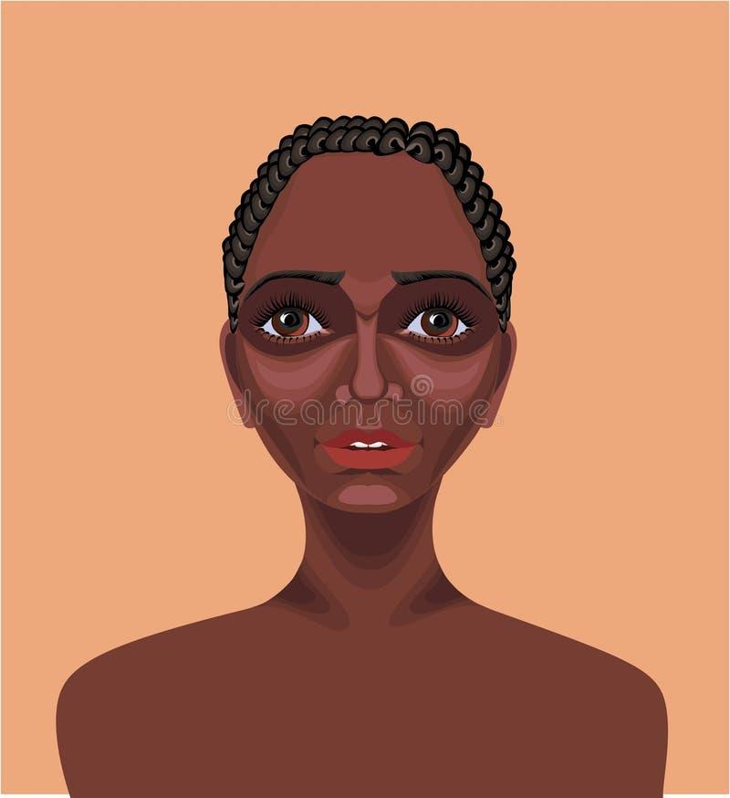 Ragazza africana sorpresa royalty illustrazione gratis
