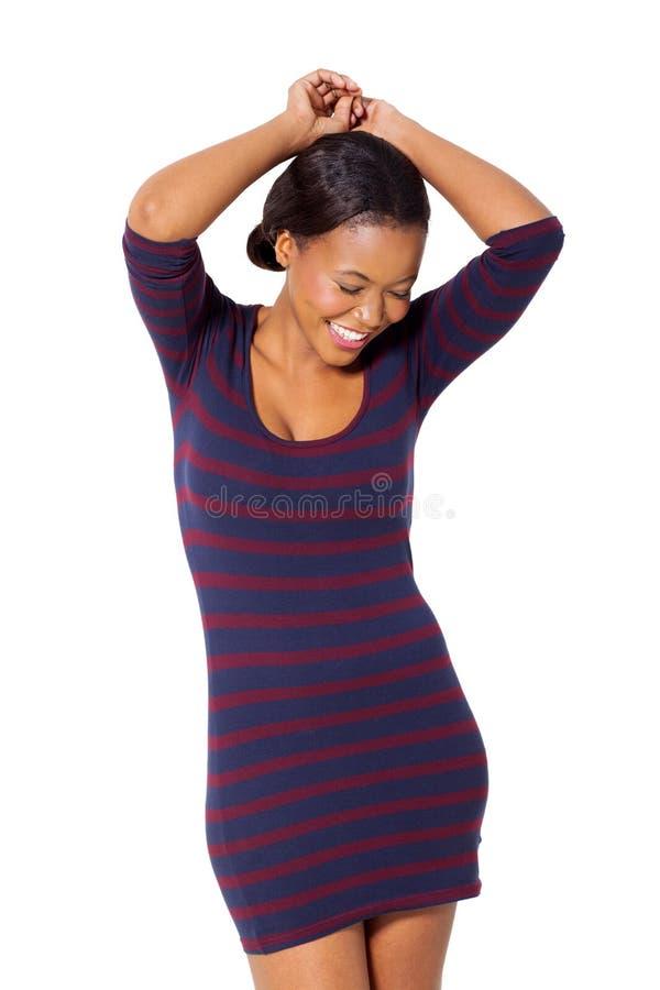 Ragazza afroamericana felice fotografia stock libera da diritti
