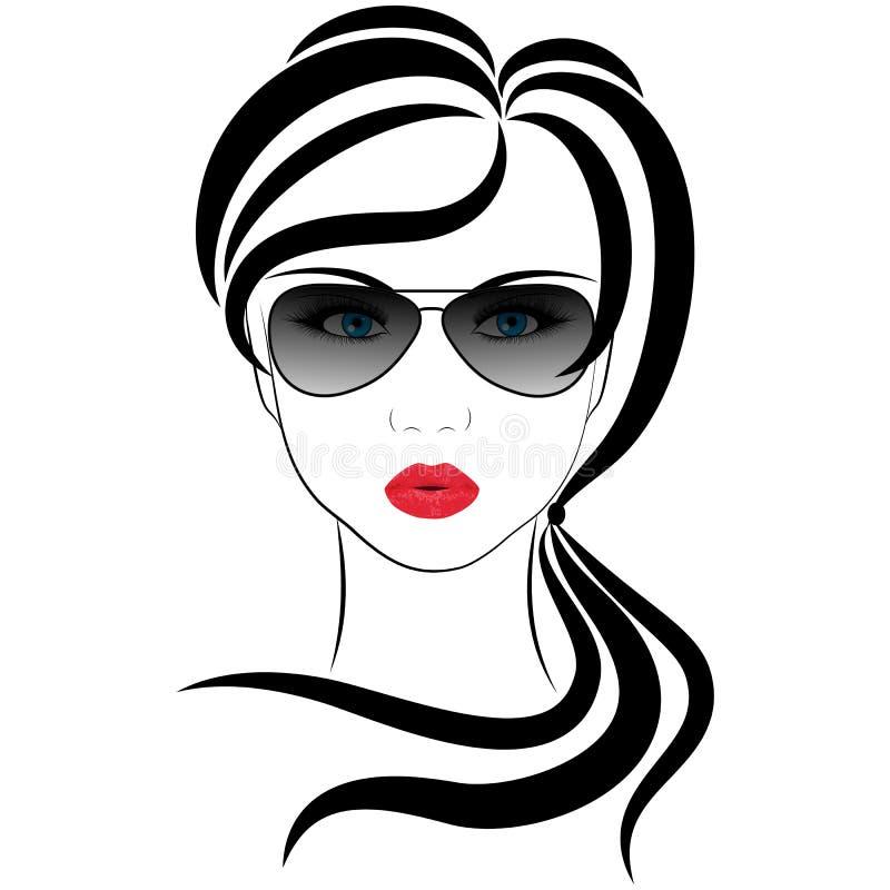 Download Ragazza alla moda illustrazione vettoriale. Illustrazione di modo - 56881800
