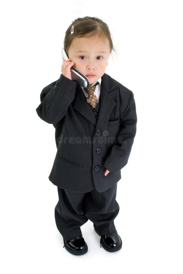 Ragazza americana giapponese del bambino con il cellulare fotografie stock libere da diritti