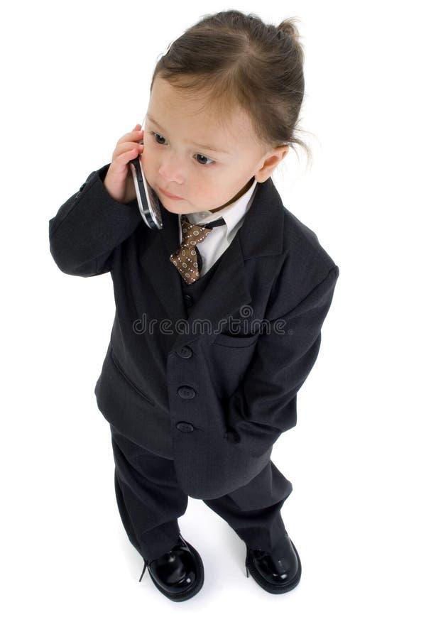 Ragazza americana giapponese del bambino con il cellulare immagini stock libere da diritti