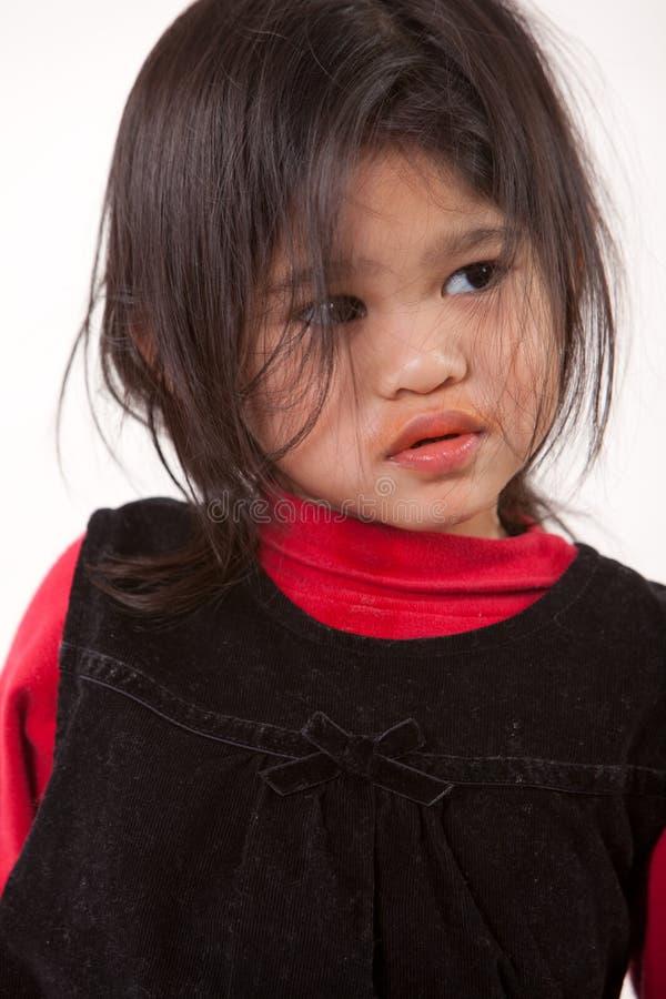 Ragazza anziana di due anni adorabile sveglia del bambino fotografia stock