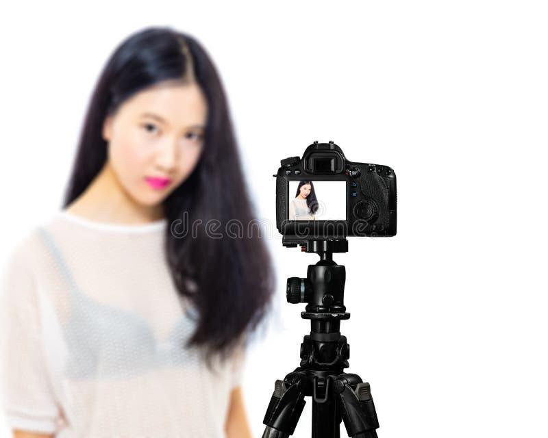 Ragazza asiatica adolescente della High School fotografie stock libere da diritti