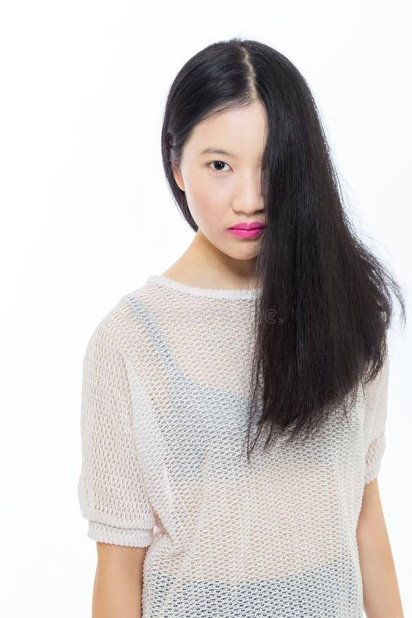 Ragazza asiatica adolescente della High School fotografia stock libera da diritti