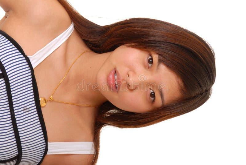 Download Ragazza Asiatica Bella Del Brunette Immagine Stock - Immagine di donna, sexy: 3884823