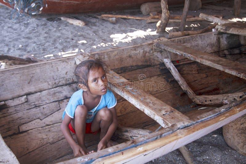 Ragazza asiatica dall'isola di Lembata immagini stock libere da diritti