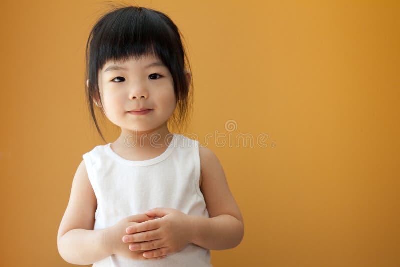 Ragazza asiatica del bambino del bambino immagini stock