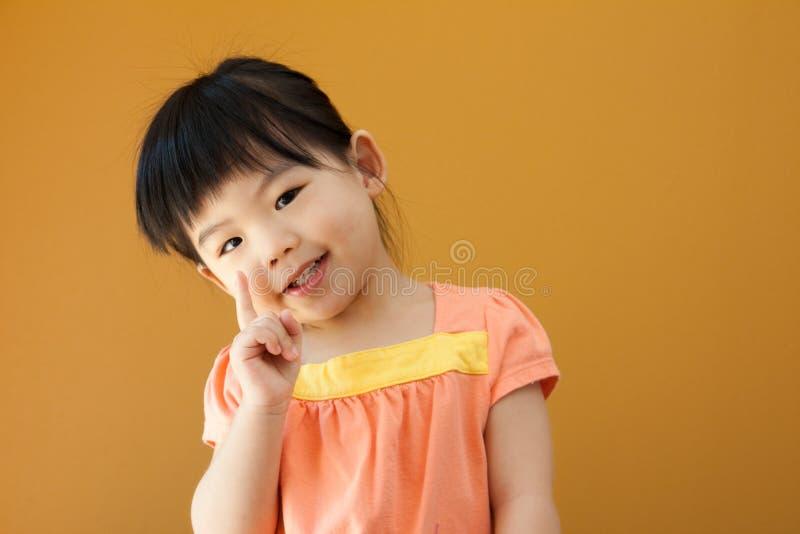Ragazza asiatica del bambino del bambino fotografia stock libera da diritti