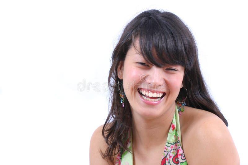 Ragazza asiatica felice fotografie stock libere da diritti