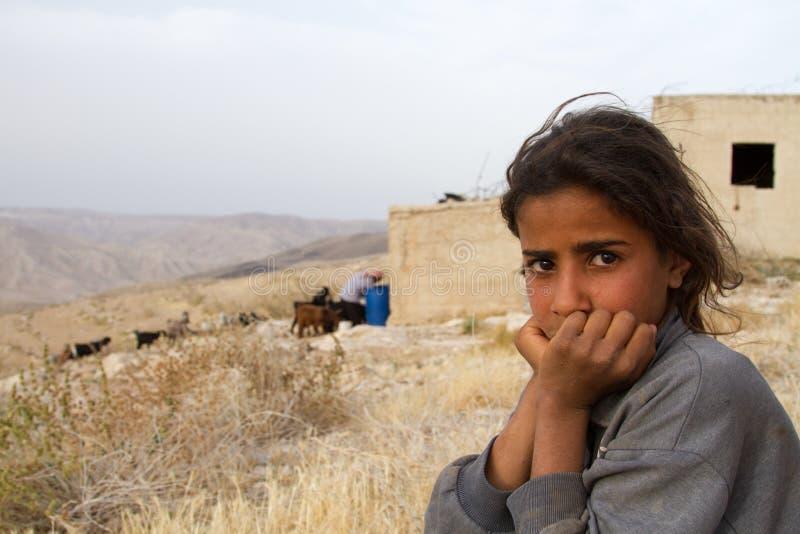Ragazza beduina, Giordania immagine stock