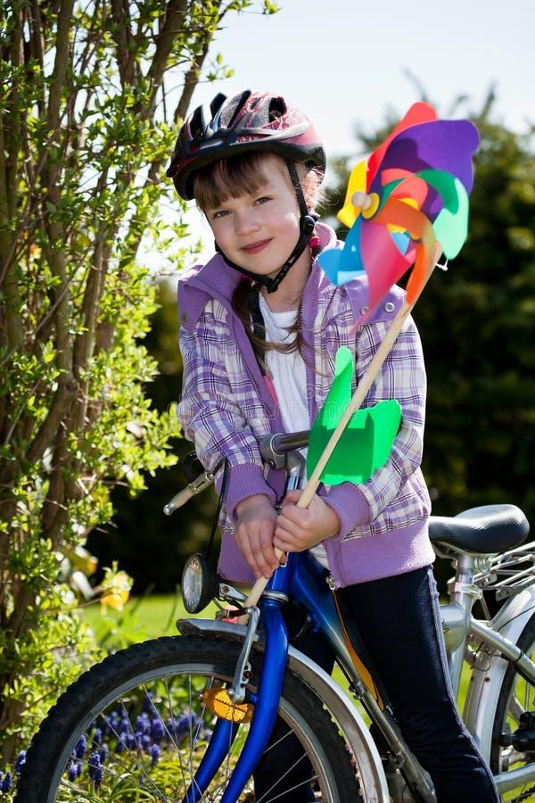 Ragazza Biking fotografia stock libera da diritti