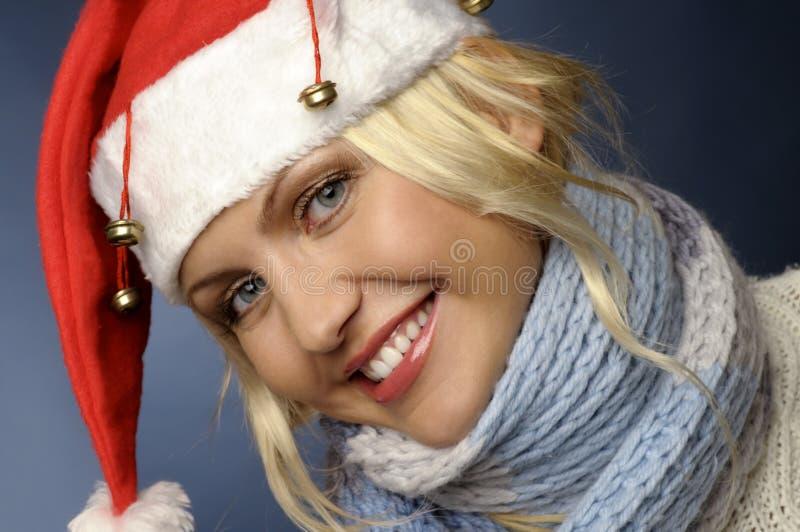 Download Ragazza Bionda Dentro E Cappello Della Santa Fotografia Stock - Immagine di modello, sano: 7307834