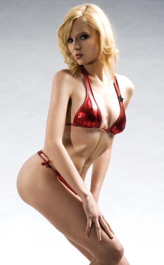 Ragazza bionda sexy fotografia stock libera da diritti