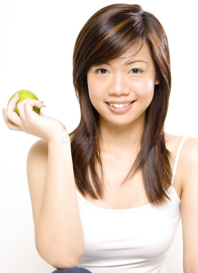 Download Ragazza in buona salute 2 immagine stock. Immagine di verde - 218511