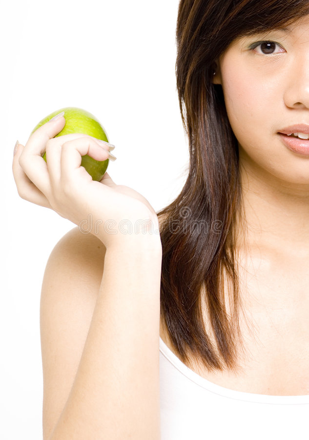 Download Ragazza in buona salute 3 immagine stock. Immagine di studio - 218569