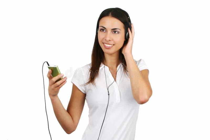 Ragazza che ascolta la musica immagini stock libere da diritti