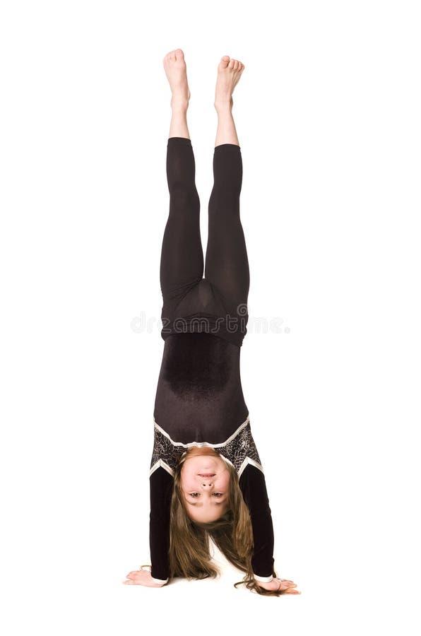 Ragazza che fa ginnastica fotografia stock
