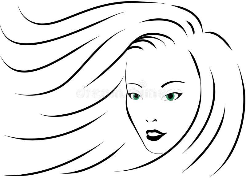 Ragazza con gli occhi verdi royalty illustrazione gratis