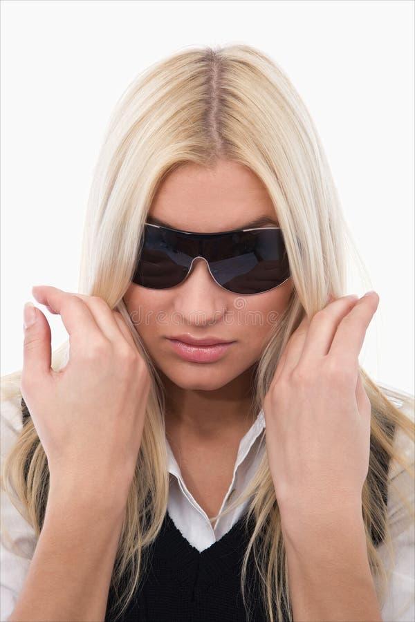 Ragazza con i sunglass fotografia stock libera da diritti
