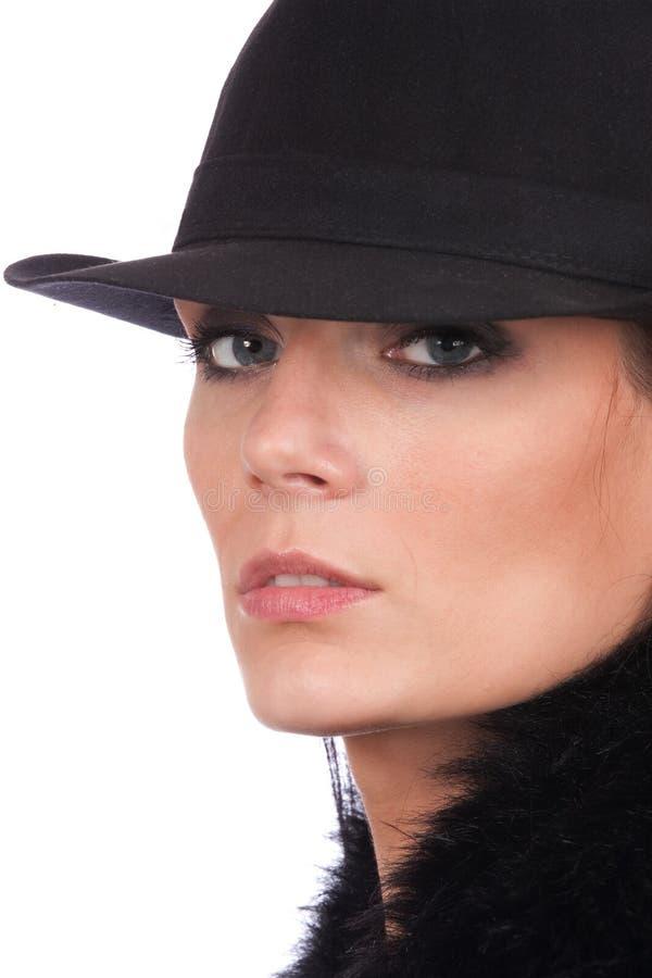 Ragazza con il cappello immagini stock libere da diritti