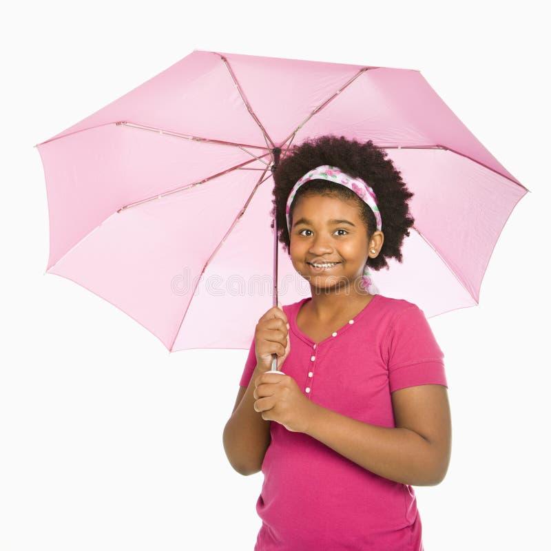 Ragazza con il parasole. fotografie stock libere da diritti