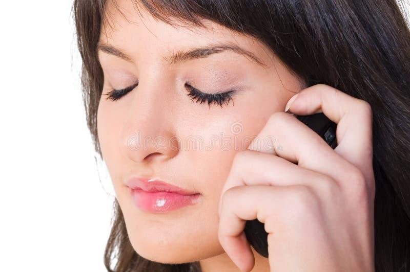 Download Ragazza Con Il Telefono Mobile Immagine Stock - Immagine di femmina, posa: 3888861