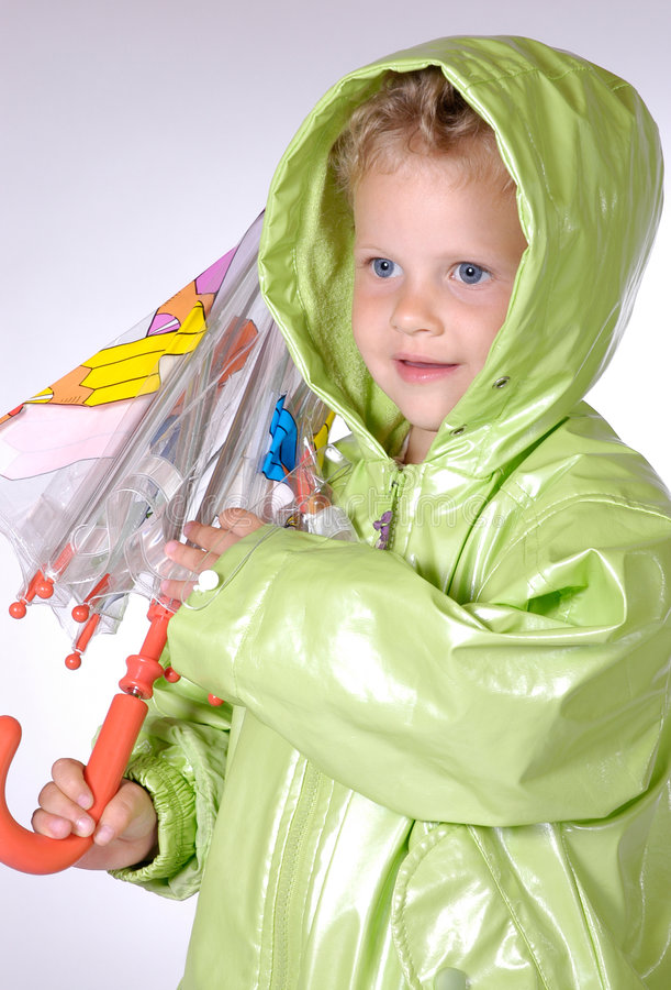 Download Ragazza con l'ombrello fotografia stock. Immagine di arricciature - 205518
