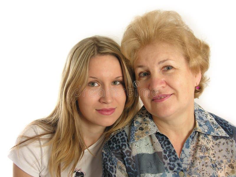 Ragazza con la madre fotografia stock