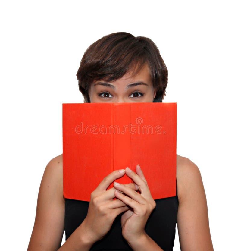 Ragazza con un libro fotografie stock libere da diritti
