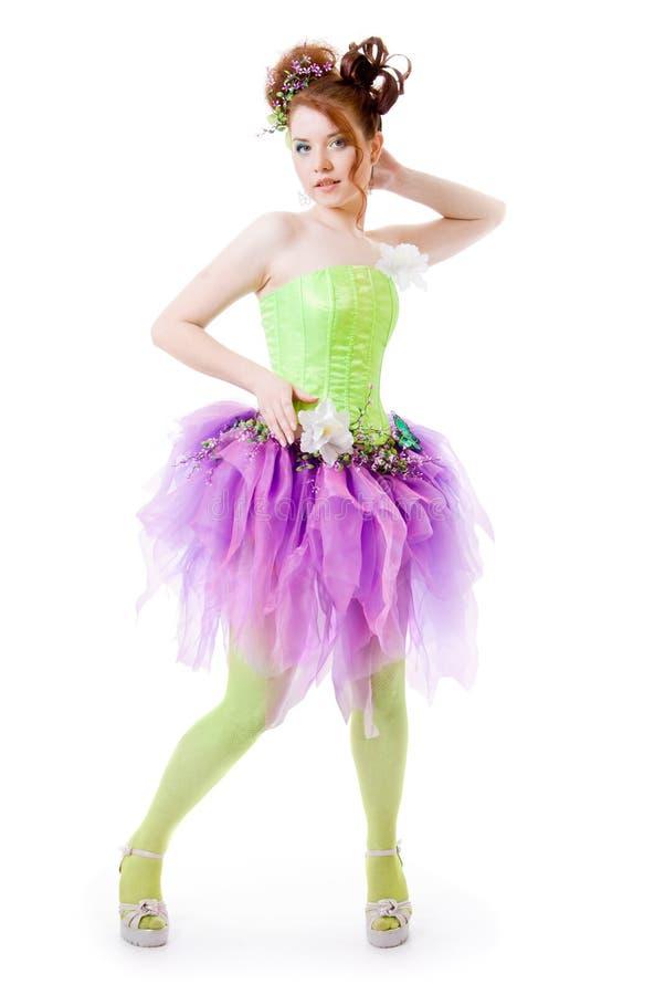 Ragazza in costume leggiadramente fotografie stock libere da diritti