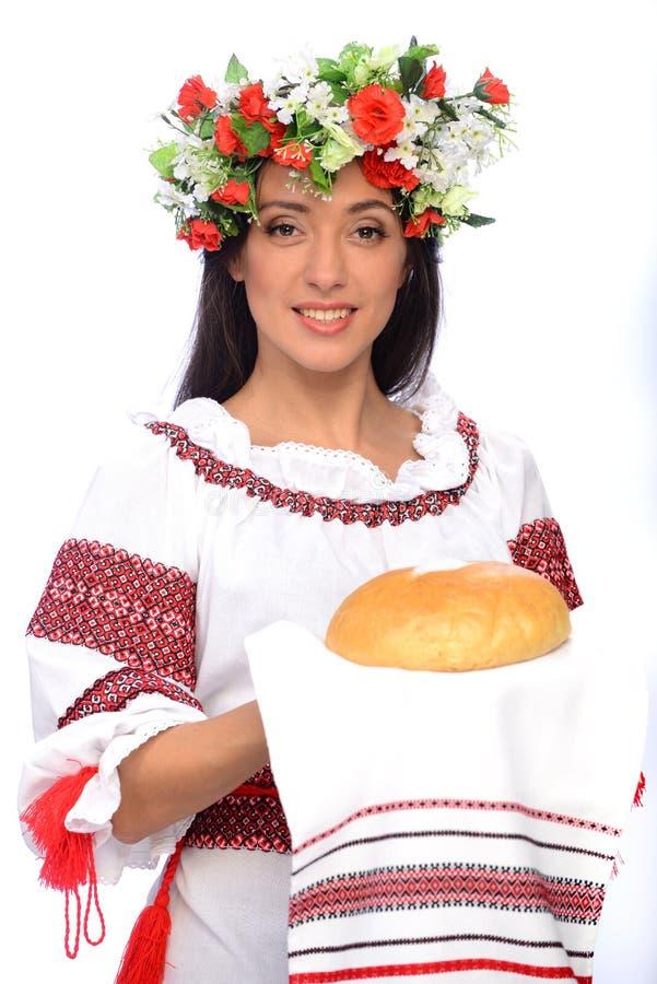 Ragazza in costume ucraino fotografie stock libere da diritti