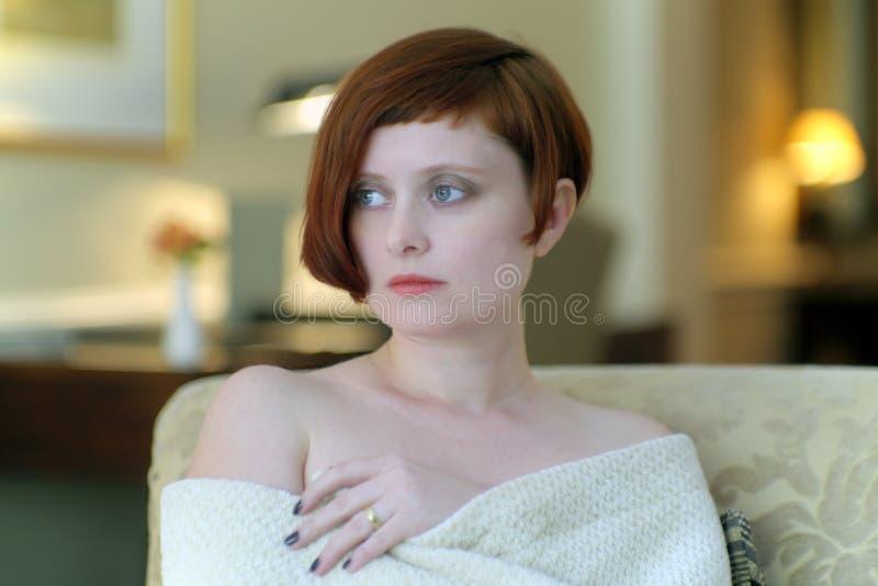 Ragazza dai capelli rossi fotografia stock libera da diritti