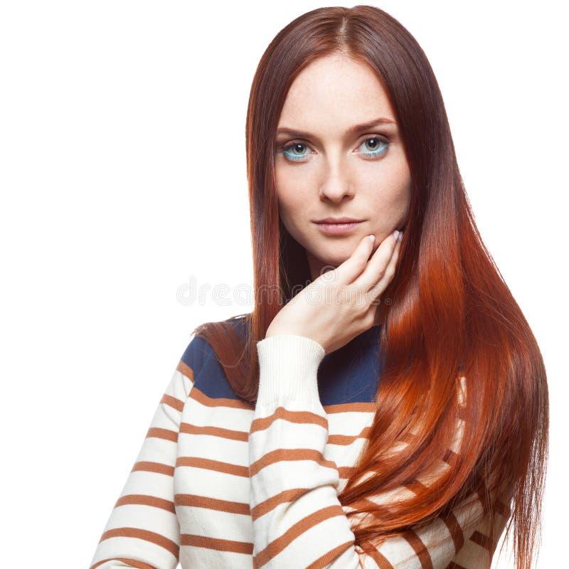 Ragazza dai capelli rossi casuale fotografia stock libera da diritti