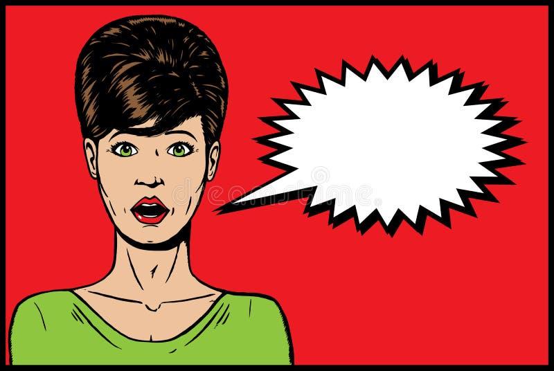 ragazza degli anni 60 illustrazione di stock