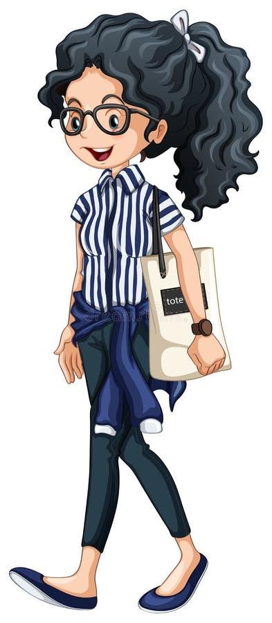 Ragazza dei pantaloni a vita bassa royalty illustrazione gratis