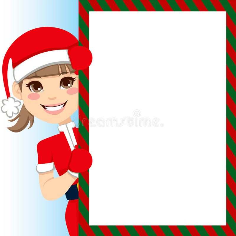 Ragazza del Babbo Natale royalty illustrazione gratis